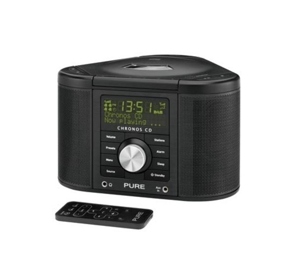 buy pure chronos cd series ii dab clock radio black. Black Bedroom Furniture Sets. Home Design Ideas