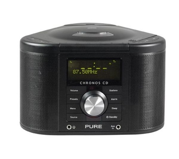 pure chronos cd series ii dab clock radio black deals. Black Bedroom Furniture Sets. Home Design Ideas