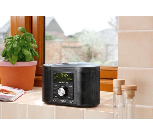 buy pure chronos cd series ii dab clock radio black. Black Bedroom Furniture Sets. Home Design Ideas