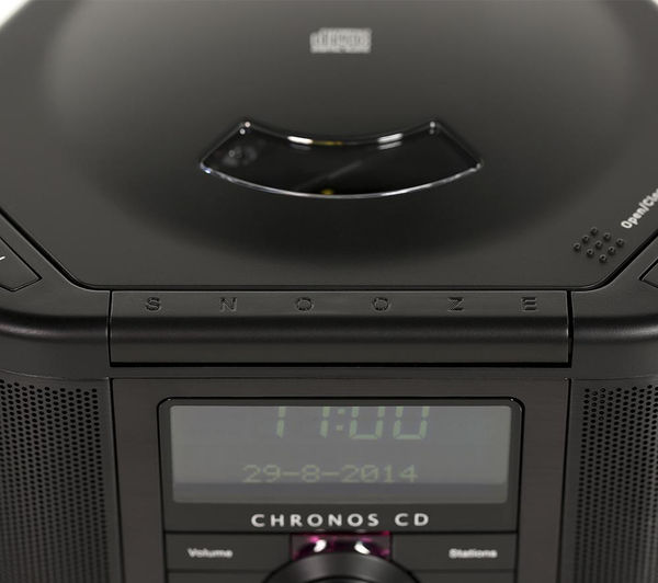 buy pure chronos cd series ii dab clock radio black free delivery currys. Black Bedroom Furniture Sets. Home Design Ideas