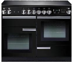 RANGEMASTER Professional+ 110 Electric Ceramic Range Cooker - Black & Chrome