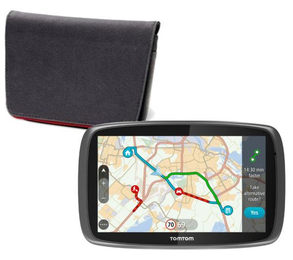 """TOMTOM GO 40 4.3"""" GPS Sat Nav with UK, ROI & Full Europe Maps and GPS Sat Nav Case"""