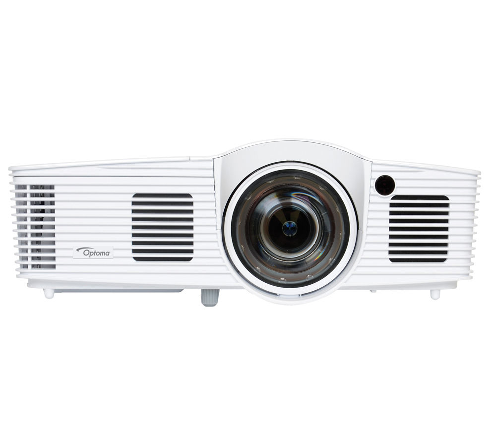 "OPTOMA GT1080 Short Throw Full HD Gaming Projector + DS-3084PWC 84"" Pull Down Projector Screen"