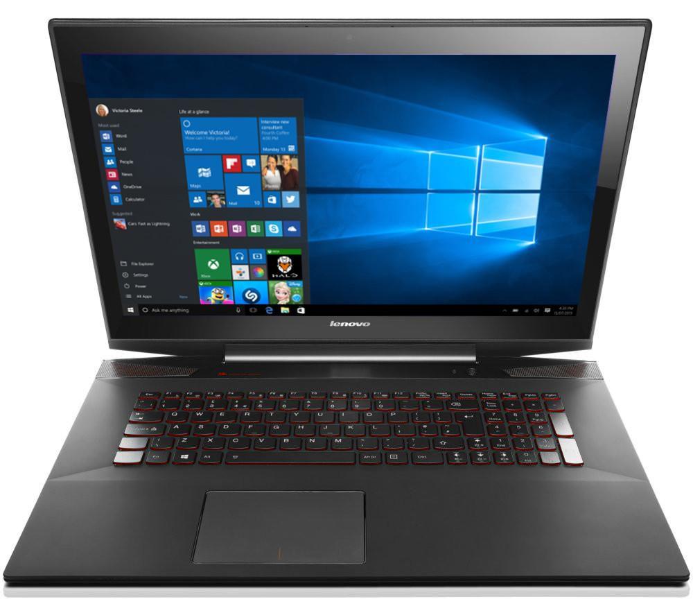 "Lenovo Y70 17.3"" Touchscreen Gaming Laptop - Black, Black"