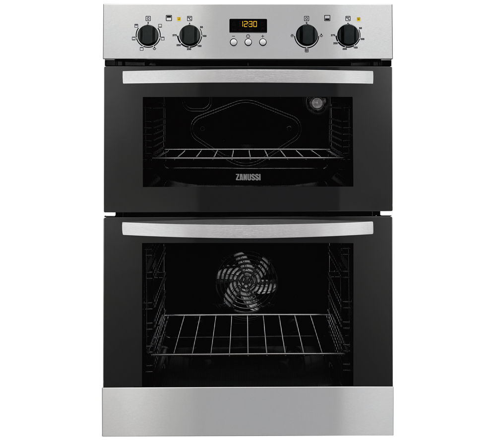ZANUSSI  ZOD35517XA Electric Double Oven - Stainless Steel +  ZEI6740BBA Electric Induction Hob - Black