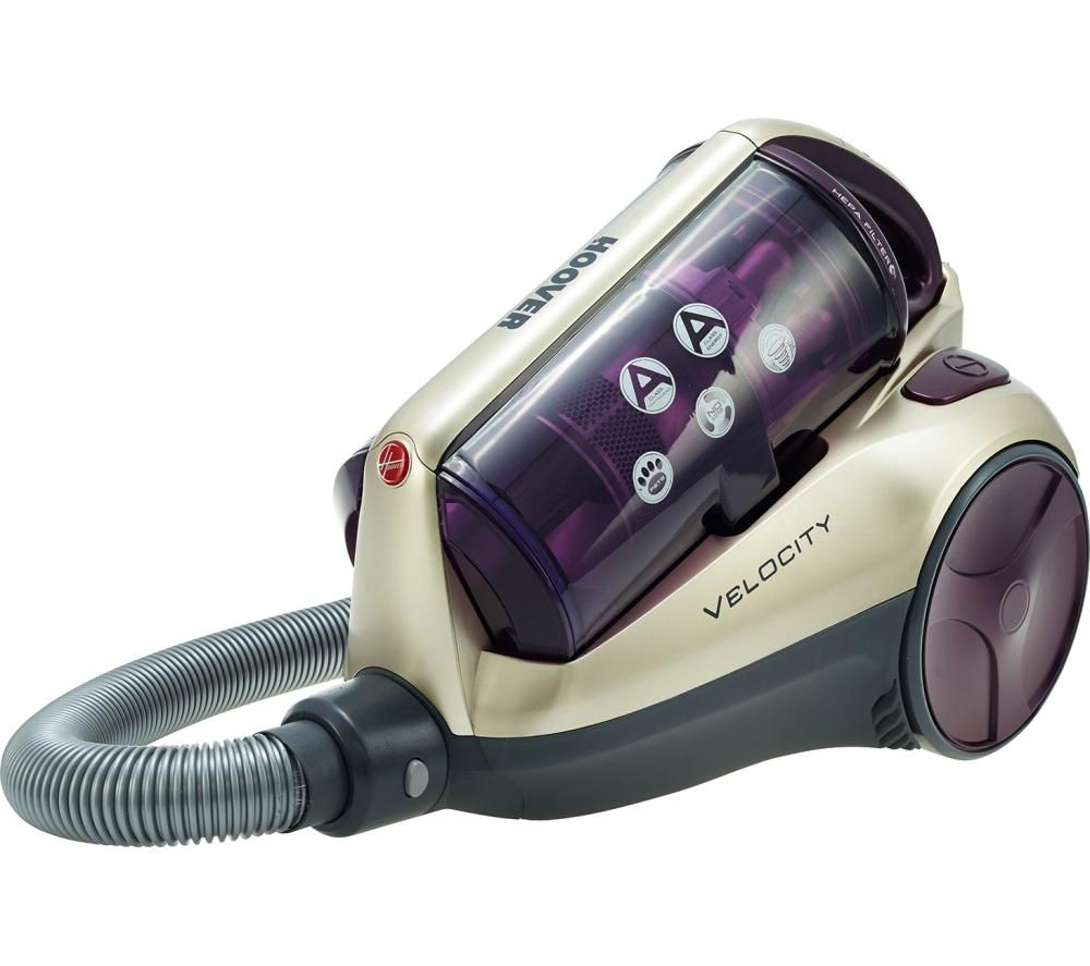 HOOVER Velocity RE71VE20001 Cylinder Bagless Vacuum Cleaner - Purple & Champagne