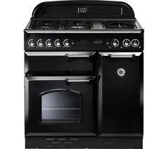 RANGEMASTER Classic 90 Gas Range Cooker  - Black & Chrome