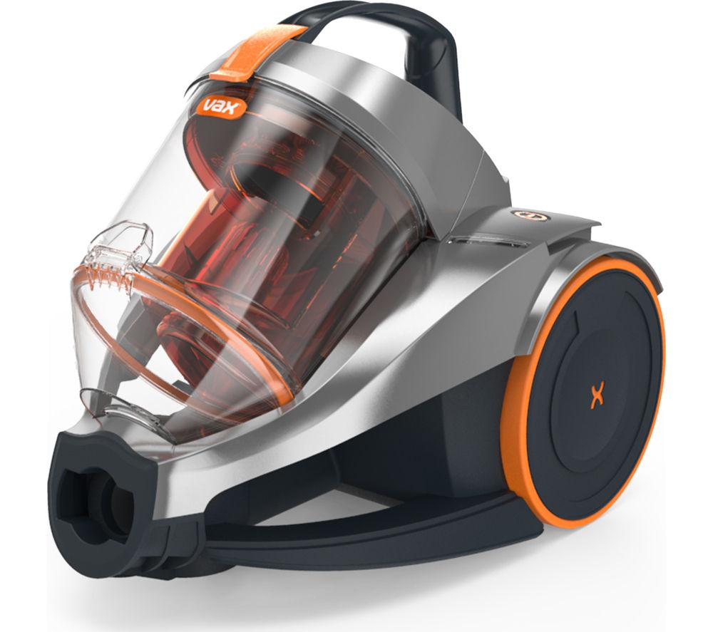 VAX Dynamo Power Base C85-Z1-BE Cylinder Bagless Vacuum Cleaner - Orange, Grey & Black