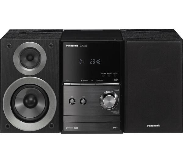 Image of PANASONIC SC-PM602EB-K Wireless Traditional Hi-Fi System - Black