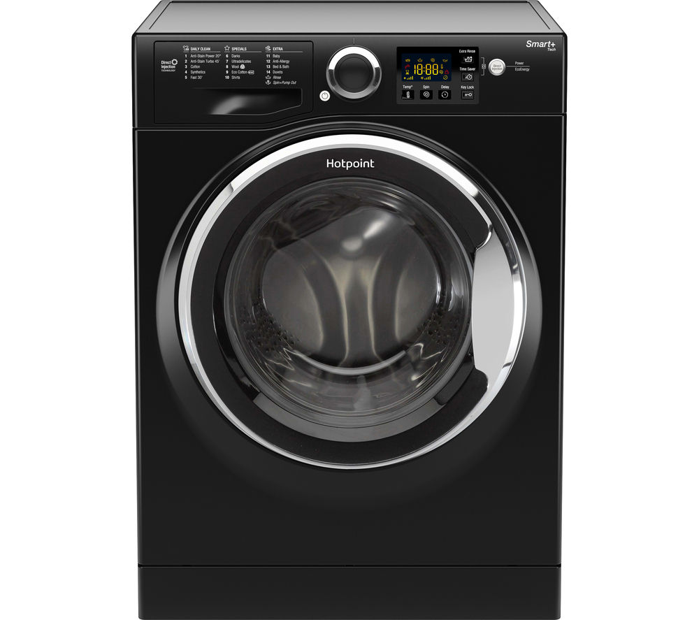 HOTPOINT  Smart RSG964JKX Washing Machine  Black Black