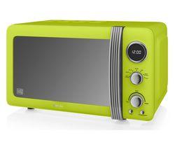 SWAN Retro SM22030LN Solo Microwave - Lime