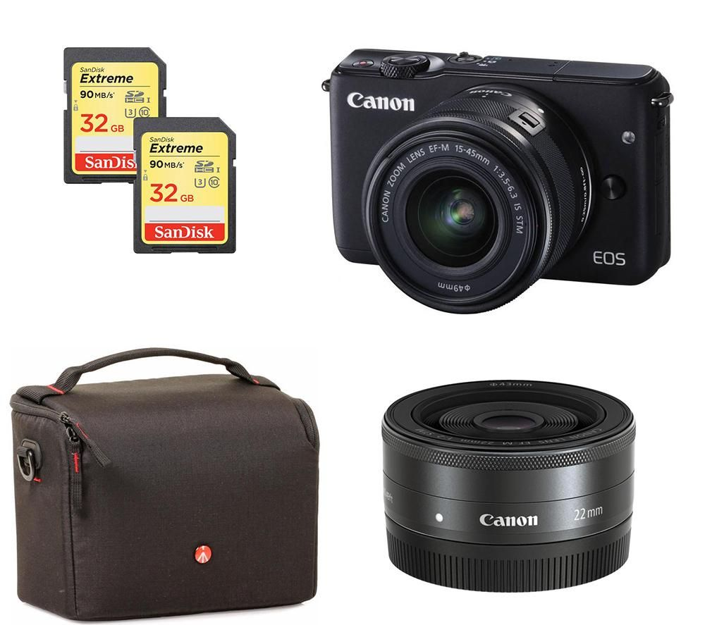 canon eos m10 compact system camera zoom pancake lenses. Black Bedroom Furniture Sets. Home Design Ideas