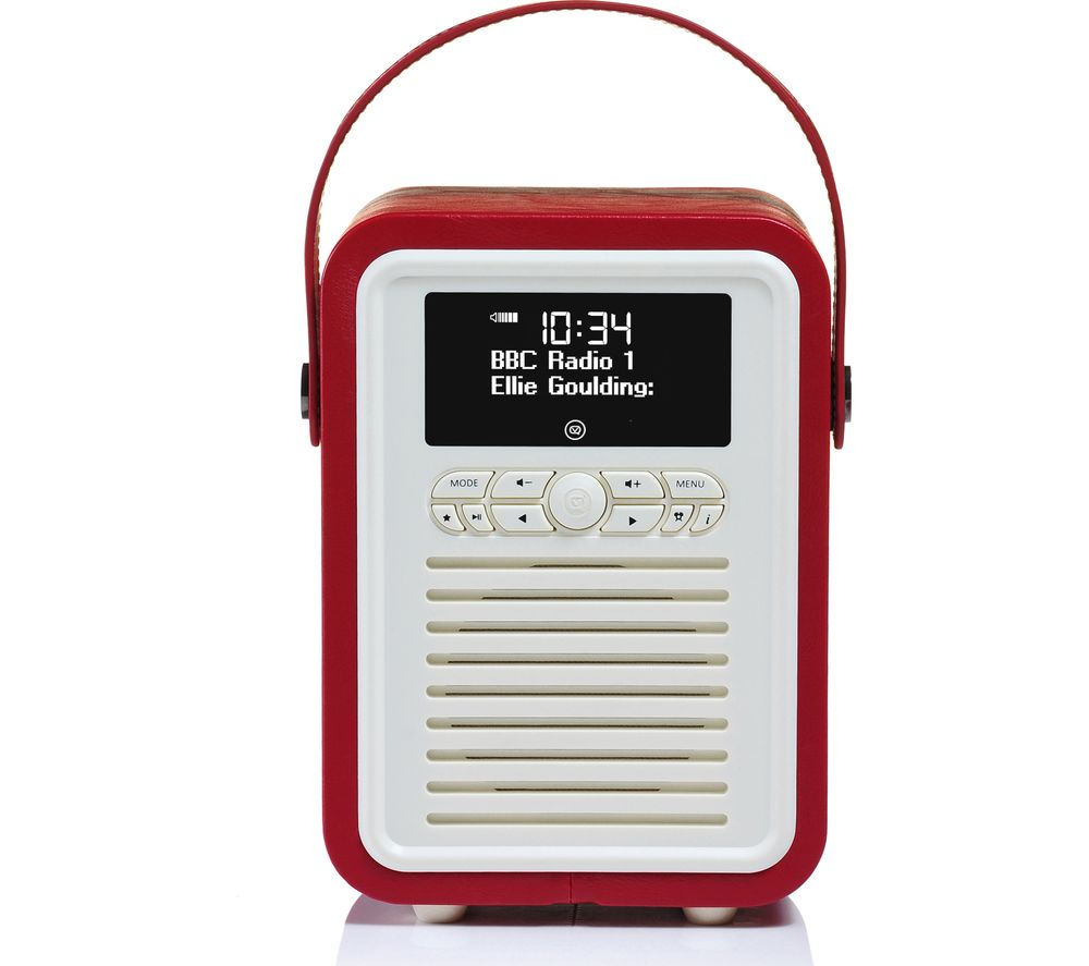 Click to view more of BLUE VQ  Retro Mini VQ-MINI-RD Portable Bluetooth DAB+/FM Radio - Red, Red