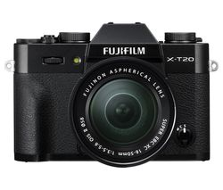 FUJIFILM X-T20 Mirrorless Camera with 16-50 mm f/3.5-5.6 Lens - Black