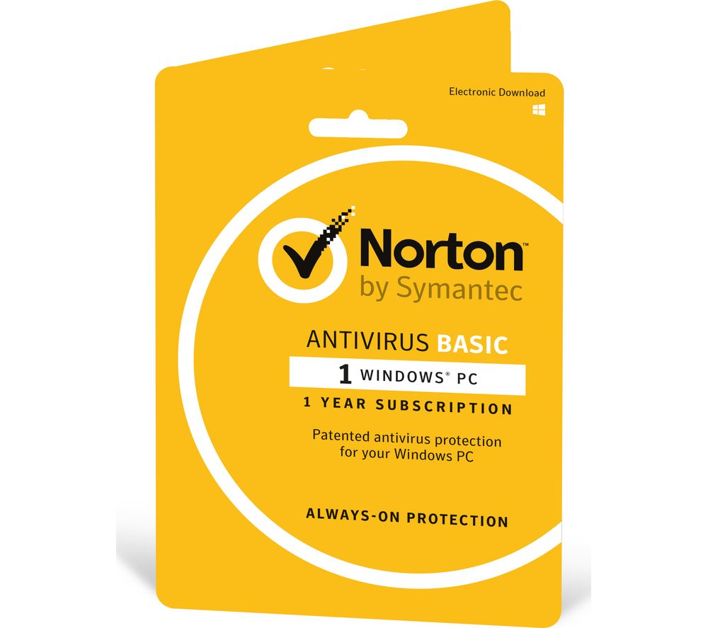 Norton AntiVirus - 1 PC 1 Year - Download Basic antivirus protection that stops viruses and spyware, so you can safely go online and share. Five patented layers of protection quickly and accurately detect and eliminate viruses and spyware.
