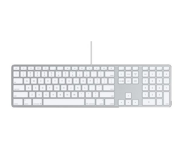 Image of Apple MB110B/B Keyboard - White, White