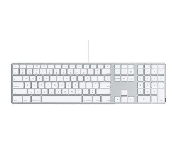 Image of APPLE MB110B/B Keyboard - White
