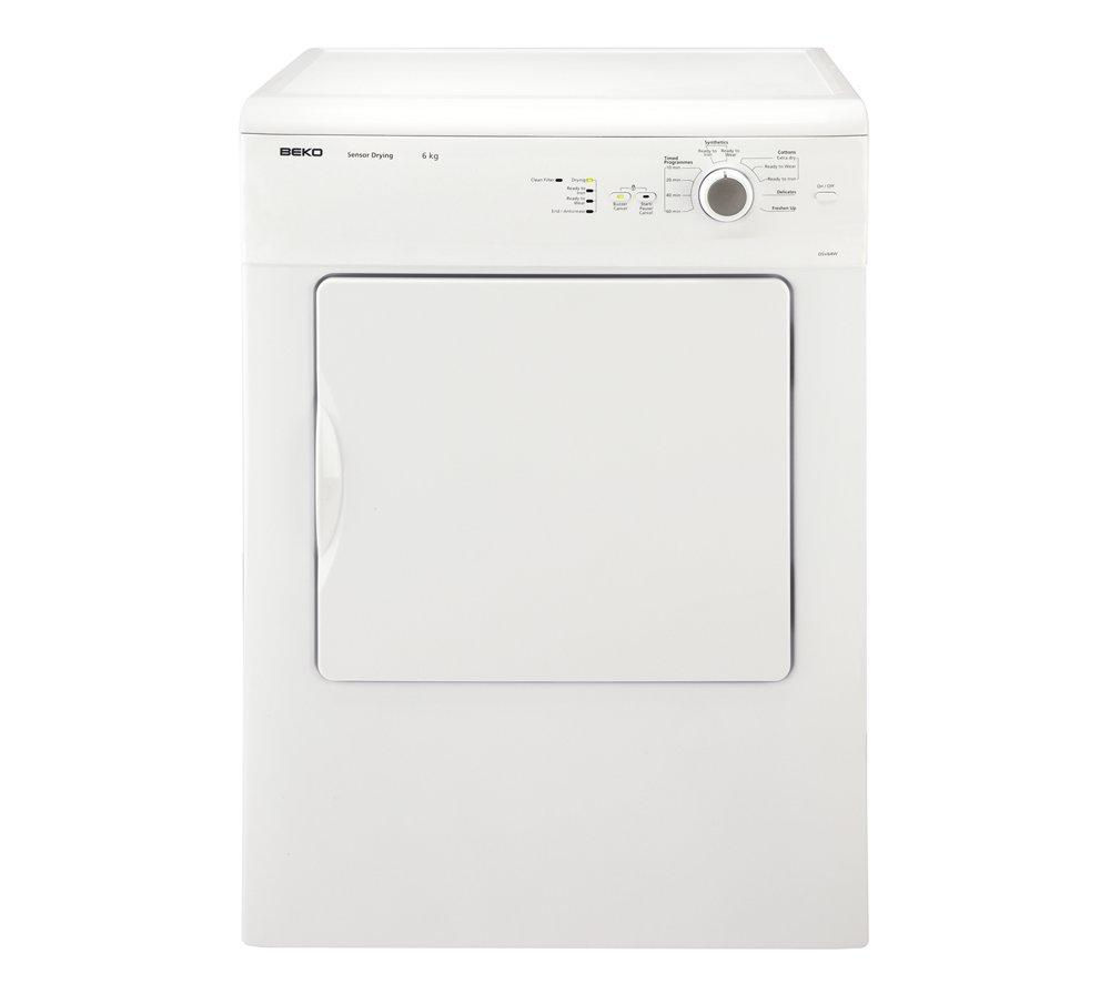BEKO  DSV64W Vented Tumble Dryer - White +  DFS05X10W Slimline Dishwasher - White