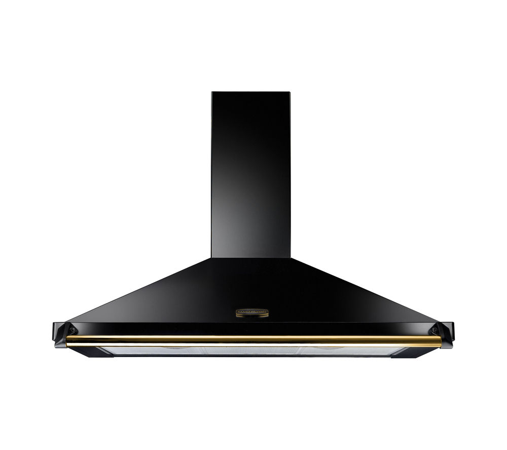 RANGEMASTER Classic CLAHDC90BB/ Chimney Cooker Hood - Black & Brass