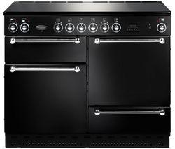 RANGEMASTER Classic 110 Electric Ceramic Range Cooker - Black & Chrome