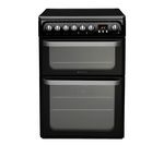 HOTPOINT HUE61K S Electric Ceramic Cooker - Black