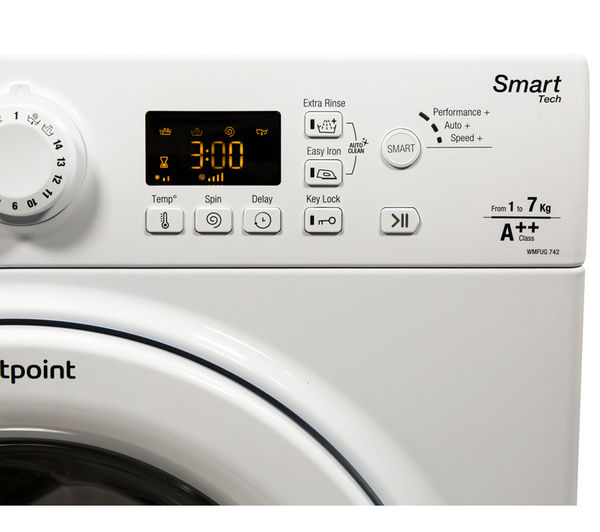 Auto Manufacturer Symbols >> Buy HOTPOINT WMFUG742P SMART Washing Machine - White | Free Delivery | Currys