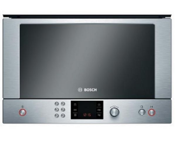 Bosch HMT85GL53B Built in Microwave with Grill   Brushed Steel, Brushed Steel