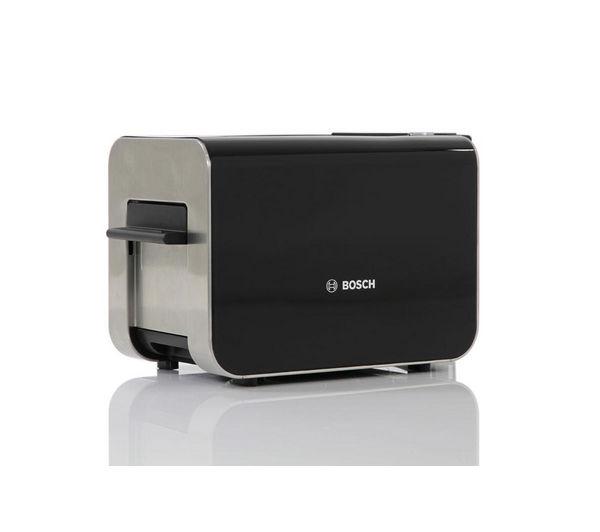buy bosch styline tat8613gb 2 slice toaster black free delivery currys. Black Bedroom Furniture Sets. Home Design Ideas