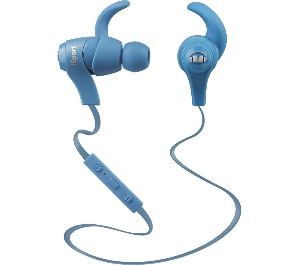 Monster iSport Wireless Bluetooth Headphones - Blue