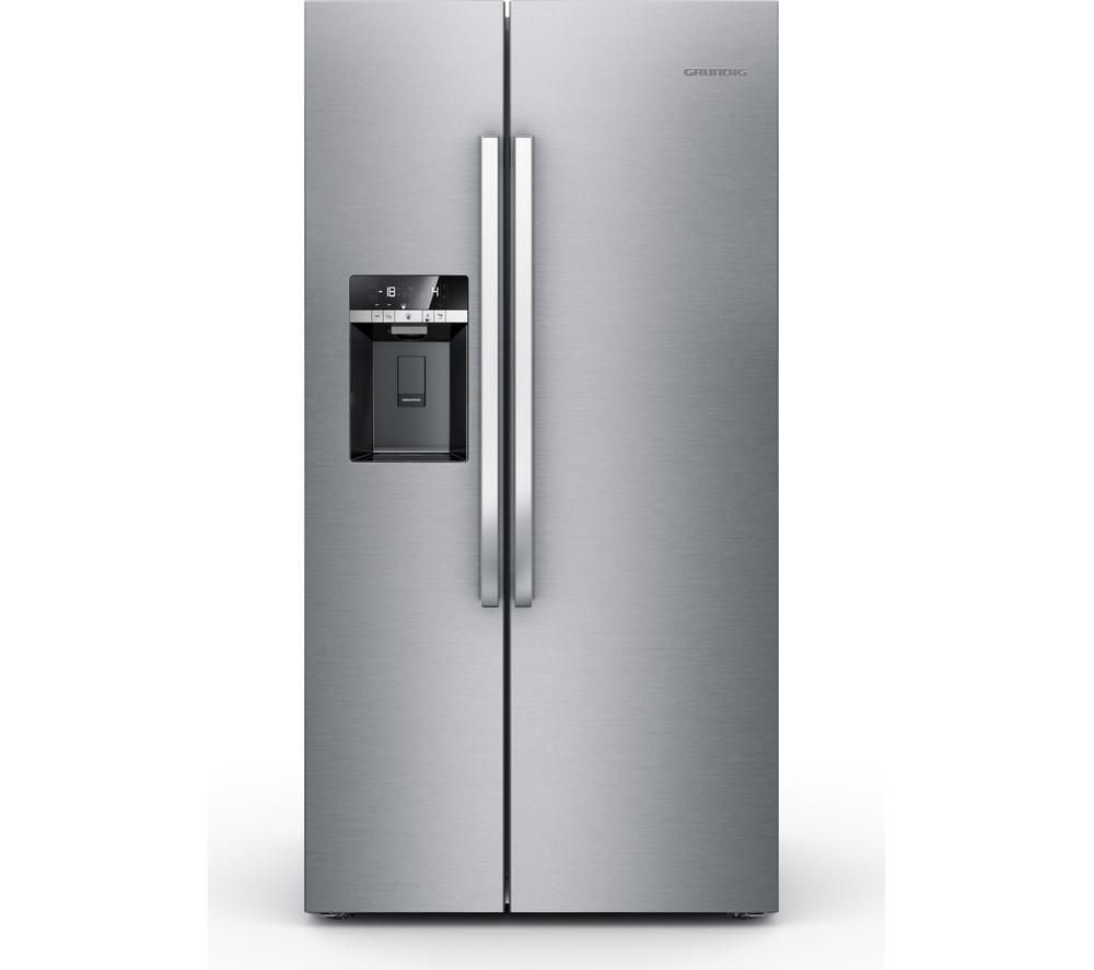 GRUNDIG  GSBS13310X AmericanStyle Fridge Freezer  Stainless Steel Stainless Steel