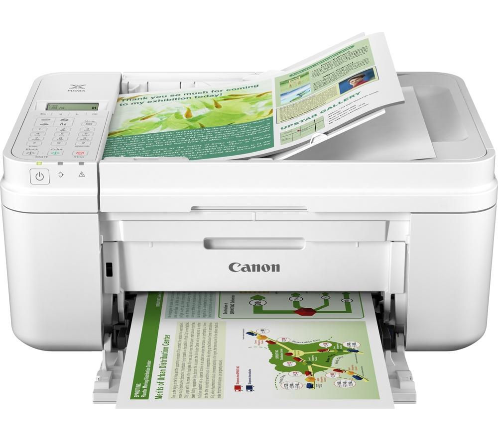 Image of Canon PIXMA MX495 All-in-One Wireless Inkjet Printer with Fax - White, White