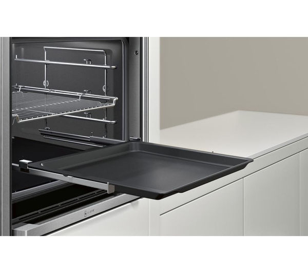buy neff b47cs34n0b slide hide electric oven stainless steel free delivery currys. Black Bedroom Furniture Sets. Home Design Ideas