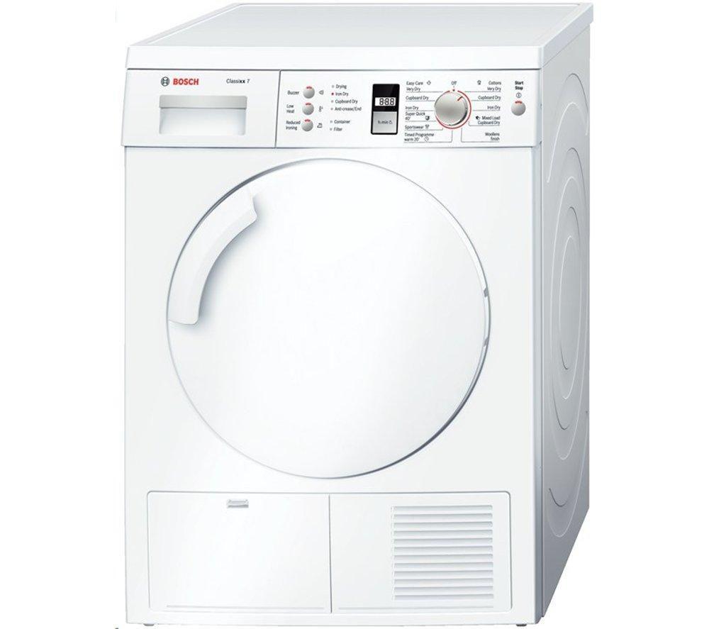 Tumble Dryer Uk ~ Bosch wte gb condenser tumble dryer white