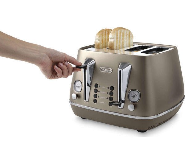Distinta CTI4003 BK 4 Slice Toaster  Bronze  Free Delivery  Currys