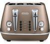 DELONGHI Distinta CTI4003.BK 4-Slice Toaster - Bronze