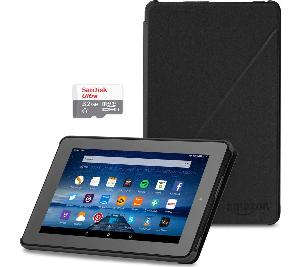 "Image of Amazon Fire 7"" Tablet Bundle - 8 GB, Black, Black"