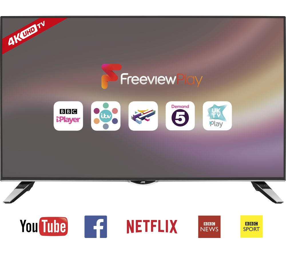 "55"" Jvc LT-55C860 Smart 4K Ultra HD  LED TV"