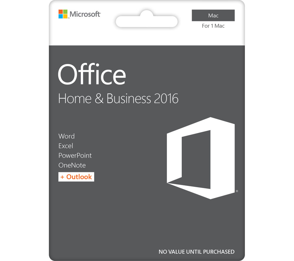 MICROSOFT Office Home and Business for Mac