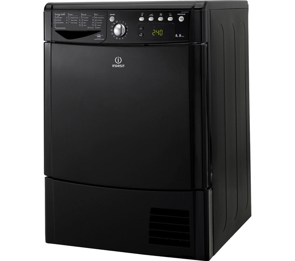 Lg Tumble Dryer Black ~ Indesit idce bk condenser tumble dryer black