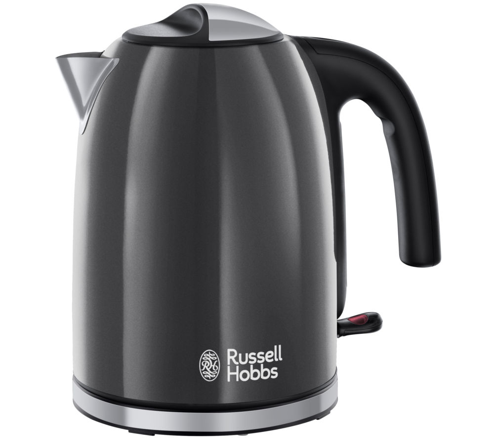 RUSSELL HOBBS  Colour Plus 20414 Jug Kettle  Grey Grey