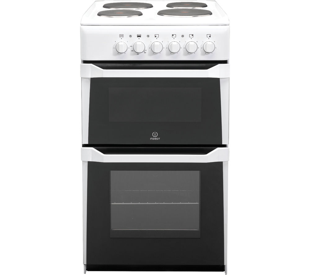 INDESIT IT50EWS Electric Solid Plate Cooker - White