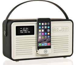 VIEWQUEST Retro Mk II Portable DAB+/FM Bluetooth Clock Radio - Black