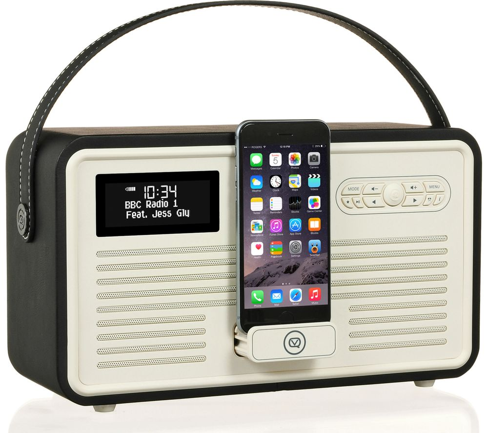 Click to view more of Viewquest  Retro Mk II Portable DABﱓ Bluetooth Clock Radio - Black, Black