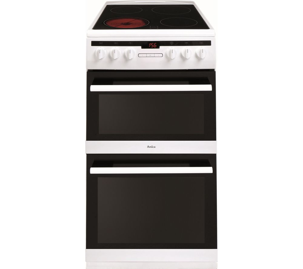 Image of AMICA 508DCE2Ta(W) 50 cm Electric Cooker - White, White