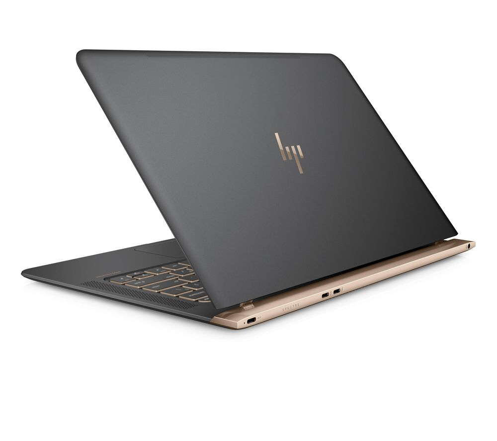 "HP Spectre 13-v151na 13.3"" Laptop - Ash Silver & Copper + L13BUN17 13"" Laptop Case with Wireless Mouse & Screen Wipes - Black"