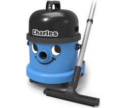 NUMATIC Charles CVC370 Cylinder Wet & Dry Vacuum Cleaner - Blue & Black