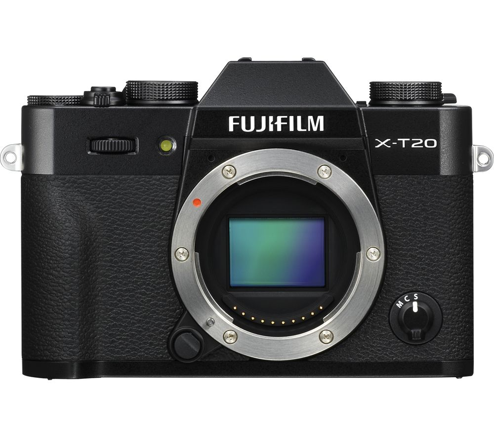 FUJIFILM X-T20 Mirrorless Camera - Black, Body Only