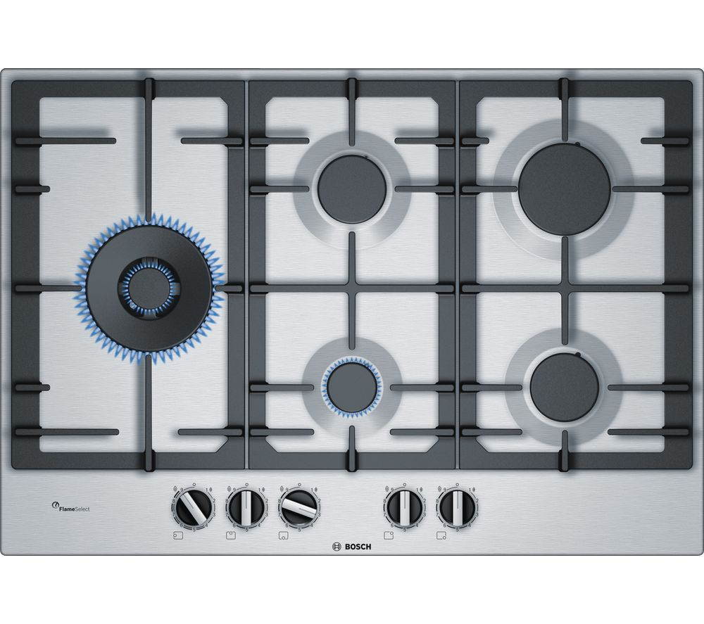 BOSCH Serie 4 PCS7A5B90 Gas Hob - Stainless Steel