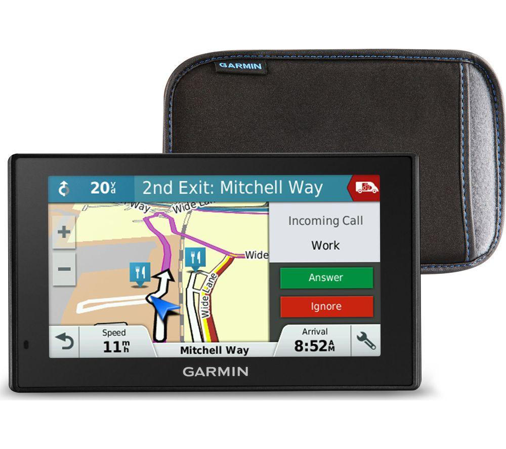 "GARMIN DriveSmart 51 LMT-S 5"" Sat Nav & Case - UK & ROI Maps"