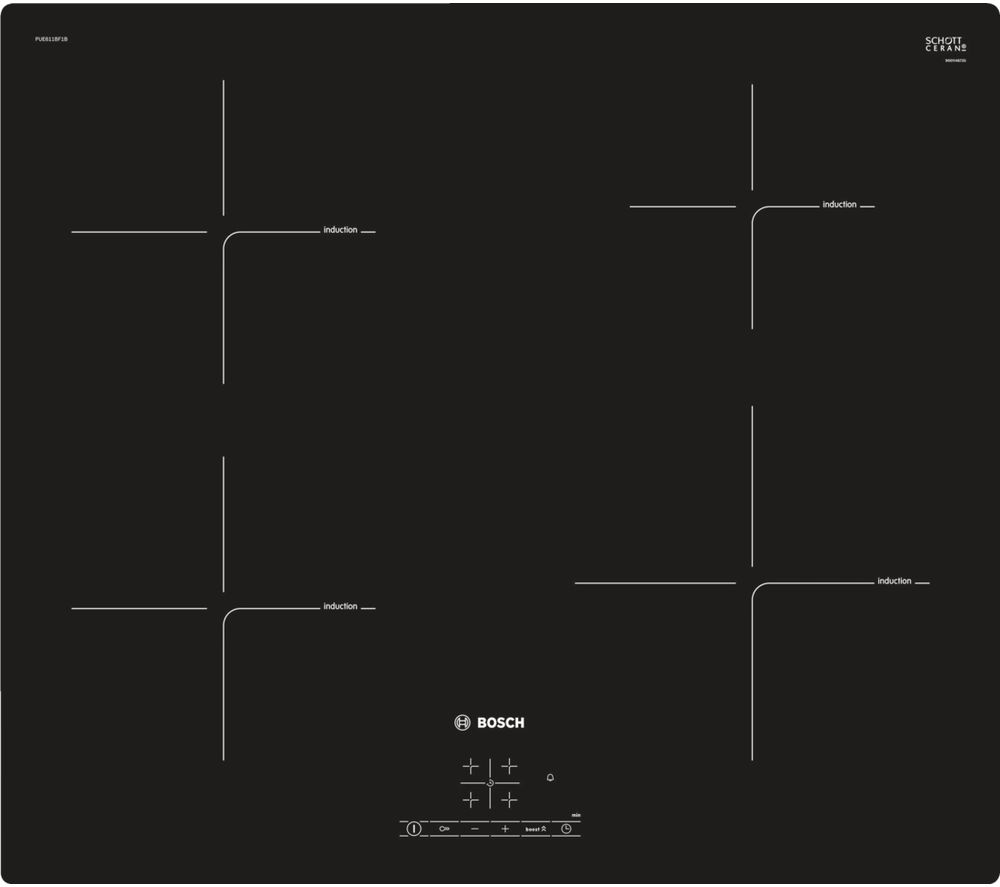 BOSCH Serie 4 PUE611BF1B Electric Induction Hob - Black